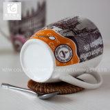 China-Tee-Cup des Porzellan-390ml besitzen Firmenzeichen-/White-Karosserie/Antrag-Entwurf