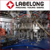 Máquina automática de enchimento e revestimento de garrafas de bebidas carbonatadas automáticas