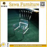 Cadeira transparente de cristal acrílica de Napoleon da resina por atacado plástica
