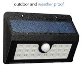 Outdoor Solar Power Garden Wall Light com sensor de movimento PIR