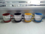 350ml tazza di ceramica con il sottobicchiere, tazza con il coperchio