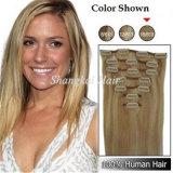 De Uitbreidingen van het Haar van de Klem van Hightlight van het Menselijke Haar van de Kleur van de mengeling