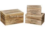 Haut de gamme personnalisé de finition en bois Antique Boîte de rangement