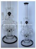 "tubo de tabaco de cristal de 15 "" del percolador creativo de la maneta que fuma tubos de agua"