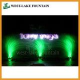 Большой фонтан танцы воды нот лазера на земле Вьетнама Nha Trang Vinpearl