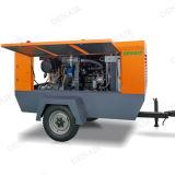 compresor de aire portable refrescado aire del tornillo del mecanismo impulsor diesel 120HP