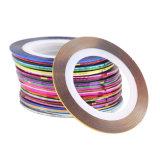 30 Striping van de Broodjes van kleuren Meetlint de Decoratie van de Schoonheid van de Hulpmiddelen van de Sticker van de Kunst van de Spijker voor op de Stickers van de Spijker