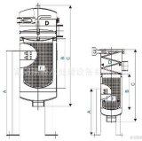 Diferentes tamaños Ss Caja del filtro de bolsa para equipo de agua RO