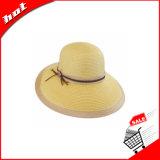 Sombrero flojo de la mujer del sombrero de la paja de papel de la manera