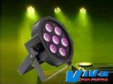Équipement de scène disco lumière 7*10W 4-en-1 RGBW à plat par la lumière