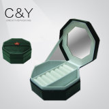 Portátil de lujo PU caja de almacenamiento de joyas de cuero