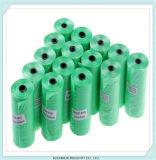 Sacchetti di plastica su ordinazione dello spreco di Poop del cagnolino di Flushable su rullo
