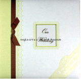 Álbum de Scrapbook de casamento de alta qualidade com fita e pedra preciosa