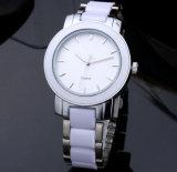 Мода пару керамические Diamond кварцевые часы на запястье стальной ремень