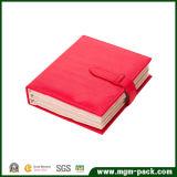 Nuevo diseño innovador de piel en forma de libro organizador de la joyería