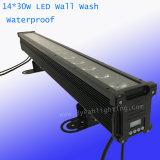 30W 14PCS RGBWA bañador de pared resistente al agua iluminación de escenarios