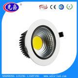 Usine directement Ventes Downlight LED 5 W/LED lumière au plafond avec corps en aluminium