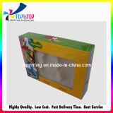 Boîte de cadeau de papier de parfum de boîte à cartes de fenêtre d'impression de pivert