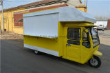 Передвижная кухня, гибкий электрический автомобиль еды трицикла, автомобиль трактира, обедая автомобиль