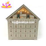 Nuovo arriva il calendario di legno divertente di conto alla rovescia di natale per i capretti W09f014
