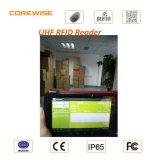 PC plana de Andorid con el programa de lectura de huella digital y Hf 13.56MHz de RFID