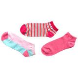 Frauen-Knöchel-Form-Baumwollsocken mit dem Farben-Färben (afc-03)
