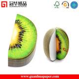 Notas Aderentes em forma de fruta fofa em forma de fraldas, maiúsculas personalizadas em forma de 3D