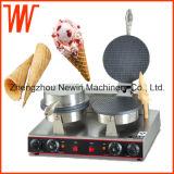 機械を作る安く小さく柔らかいアイスクリーム円錐形