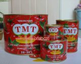Atacado 70 G para 4,5 kg duplo concentrado de tomate enlatado Colar com cor vermelha