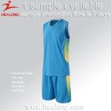 Uniformes baratos da equipe de Healong para a camisola do basquetebol do homem