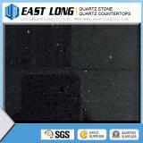 大きい穀物ミラーの黒の人工的な水晶石の/Quartzの石造りのカウンタートップ