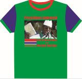 100% Polyester personnalisé Printed Vote présidentiel 100g T-shirts promotionnels