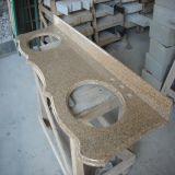 Parti superiori gialle personalizzate del banco della barra/cucina del granito G682