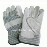 二重やし牛そぎ皮の手袋の構築安全作業手袋