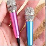 Микрофон петь мобильного телефона связанный проволокой Karaoke спрятанный микрофоном миниый