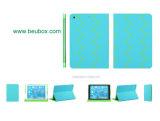Série Rayli Smoonth Top PU caso Suporte para iPad Air iPad 5-Azul