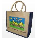 流行の総合的な革およびジュートの物質的な戦闘状況表示板のショッピング・バッグ