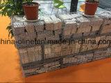 Стена Gabion провода металла камней для здания