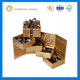 Pequeña tarjeta Oro barato Chocolate caja con el nudo de la mariposa de chocolate de regalo (caja).