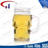 380ml forma do crânio de vidro transparente uma caneca de cerveja (CHM8028)