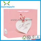 Bolsa de papel de lujo de encargo del regalo con la venta al por mayor de la impresión de la insignia