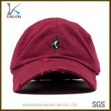 Gorra de béisbol bordada aduana barata del panel del sombrero 6 del papá