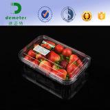 Contenitore di plastica della copertura superiore della frutta della radura a gettare dell'animale domestico del commestibile 125/500/250grams