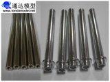 Части металла CNC точности подвергли механической обработке машиной, котор подвергая механической обработке запасные автоматические повернутые поворачивая