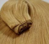 100% virgem naturais brasileiros Remy Tecelagem de fio de cabelo humano
