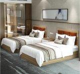 Деревянные шкаф и кровать для комплектов мебели спальни гостиницы звезды
