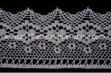 Lacet bon marché de coton pour la garniture de lacet de décoration de vêtement