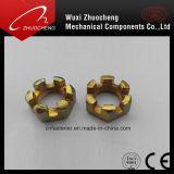 Écrou enrubé en zinc zingué DIN937 haute qualité