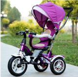 4 in 1 Baby-Dreirad, Baby-Spaziergänger, Muntifunction Kind-Dreirad mit Luft-Gummireifen