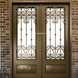 Gute Qualitätskundenspezifische gerade Rahmen-Eisen-Haustüren